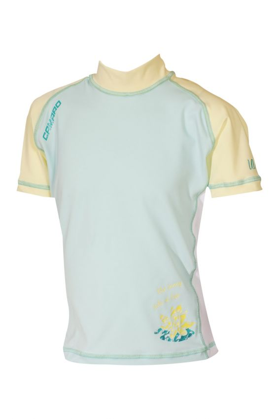 Lycra Shirt Girls Shortsleeves mint/yellow