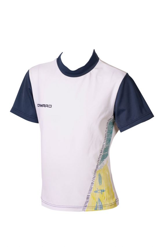 Lycra Shirt Boys Shortsleeves white/navy