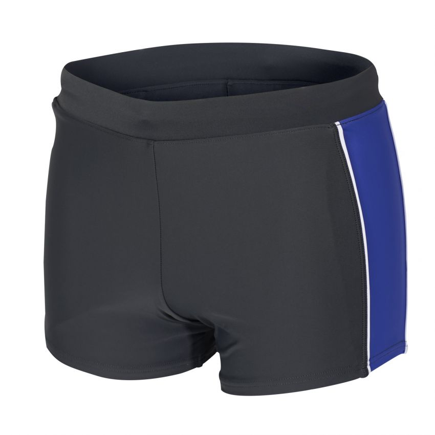 Badehose / Trunk in grau - blau