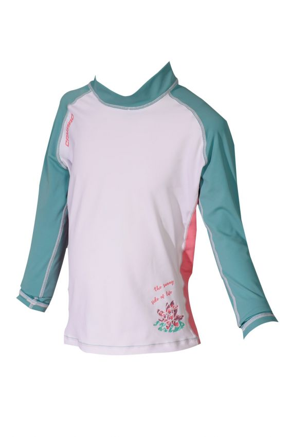 Lycra Shirt Girls Longsleeves white/mint