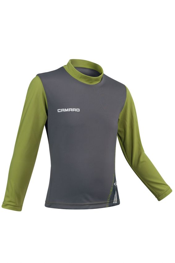 Lycra Shirt Boys Longsleeves grey/olive