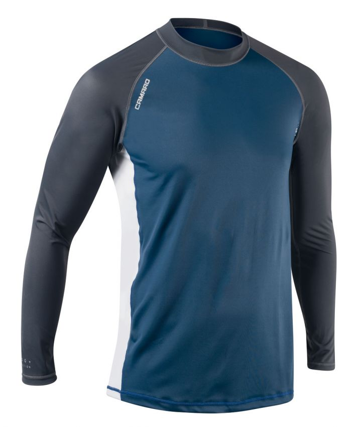 Lycra Shirts Men Longsleeves black/blue