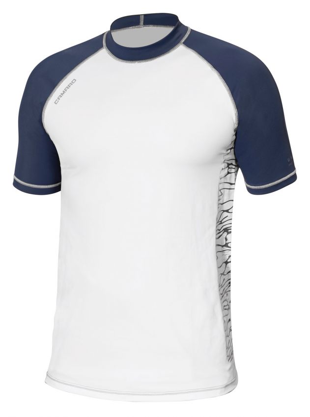 Lycra Shirt Men Shortsleeves white/navy/grey