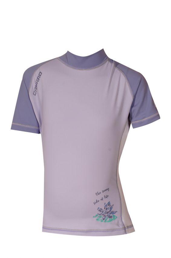 Lycra Shirt Girls light Shortsleeves lila/purple
