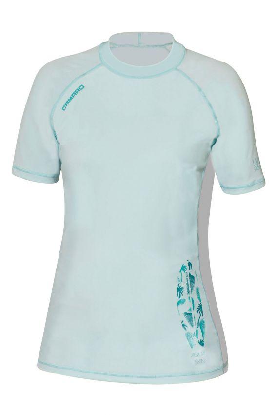 Lycra Shirt Women Shortsleeves mint/white